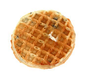 Single Blueberry Waffle Butter Syrup Royalty Free Stock Photography