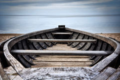A single boat, the Baltic Sea Stock Photography