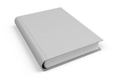 Single book. Single blank book on white background Royalty Free Stock Photo