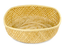 Single braided straw basket Stock Photography