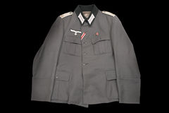 Single-breasted military jacket Stock Images