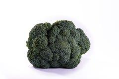 Single Brocoli Stem Top Bush Vegetable Fresh Cooking Raw Ingredi Stock Images