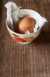 Single brown egg Royalty Free Stock Photos