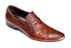Single brown shoe Royalty Free Stock Images