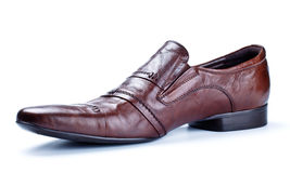 Single brown shoe Royalty Free Stock Photography
