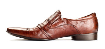 Single brown shoe Stock Photography