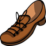 Single brown shoe Stock Image