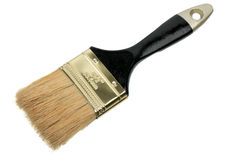 Single brush with black wood handle Royalty Free Stock Photography