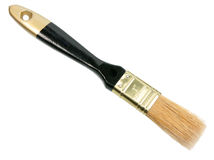 Single brush with black wood handle Stock Images