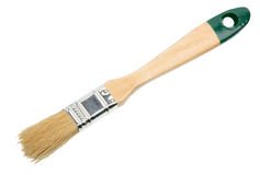 Single brush with green wood handle Royalty Free Stock Photos