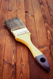 Single brush on wood Royalty Free Stock Photos