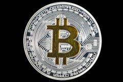 Single BTC Bitcoin coin Royalty Free Stock Image