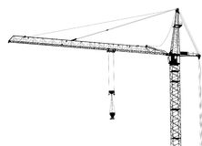 Single building crane isolated on white Stock Image