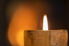 Single Burning candle Royalty Free Stock Photos