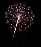 Single Burst of Fireworks on a Black Background Royalty Free Stock Image