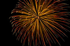 Single-burst shower of fireworks streak Royalty Free Stock Photo