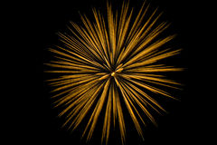 Single-burst shower of fireworks streak Royalty Free Stock Photography