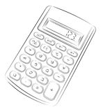 Single calculator. Simple drawing of single calculator Royalty Free Stock Photography