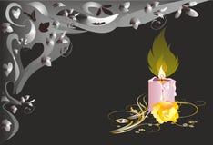 Single candle Stock Image