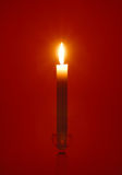 Single Candlelight Stock Photo