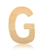 Single capital block wooden letter G. royalty free stock images