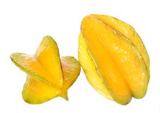 Single carambola Stock Image