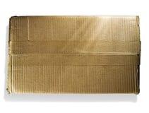 Single cardboard box Royalty Free Stock Photo