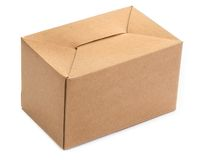 Single cardboard box Royalty Free Stock Photography