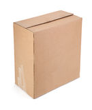 Single cardboard box Stock Photos