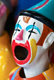 Single carnival laughing clown. Carnival sideshow laughing clown game Royalty Free Stock Image