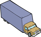 Single Cartoon Truck Royalty Free Stock Image