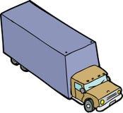Single Cartoon Truck Royalty Free Stock Image