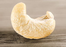 Single cashew nut , Anacardium Occidentale. Still of a lonely cashew Royalty Free Stock Images