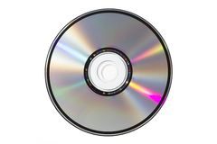 Single CD on white background. A sigle CD on white blackground, isolated royalty free stock images