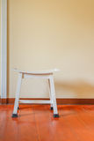 Single chair white colour. Royalty Free Stock Images