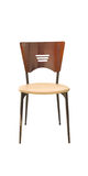 Single chair on wite isolate background. Royalty Free Stock Images