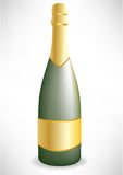 Single champagne bottle Stock Photo