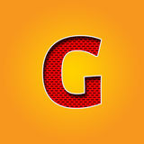Single Character G Font in Orange and Yellow color stock photography
