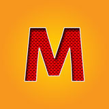 Single Character M Font in Orange and Yellow color Alphabet Royalty Free Stock Photos