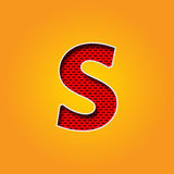 Single Character S Font in Orange and Yellow color Alphabet Stock Photo