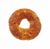 Single Cheese and Onion Bagel Royalty Free Stock Images