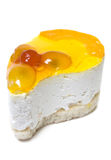Single cheesecake Stock Photography