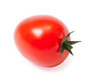 Single cherry tomato. Isolated on white background Stock Photo