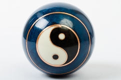 A single Chinese Meditation Ball with a Yin Yang Royalty Free Stock Photography