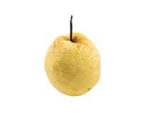 Single chinese pear isolated white background Royalty Free Stock Photography