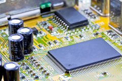 Single chip to digitize, decode video and capture. Single chip solution to digitize and decode video, and capture it through the PCI-bus Royalty Free Stock Photography
