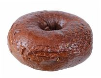 Single chocolate bagel Royalty Free Stock Photos