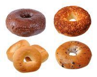 Single chocolate bagel Royalty Free Stock Images