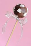 Single chocolate cake pop Royalty Free Stock Photography
