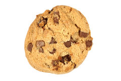 Single Chocolate Chip Cookie Biscuit Royalty Free Stock Photos